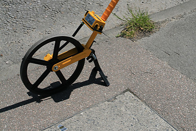 Measuring wheel survey tool